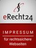 Logo eRecht24 für rechtssicheres Impressum